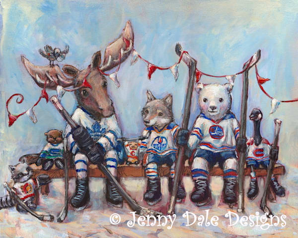 Canada Hockey Bench | Jenny Dale Designs