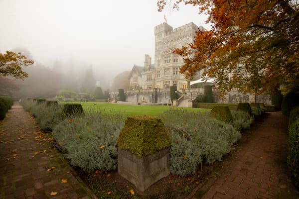 """Hatley Castle in Fog"" Photograph for Sale as Fine Art."