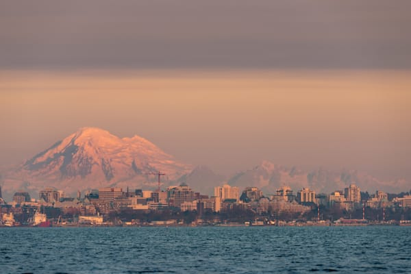 """Victoria and Mount Baker"" Photograph for Sale as Fine Art."