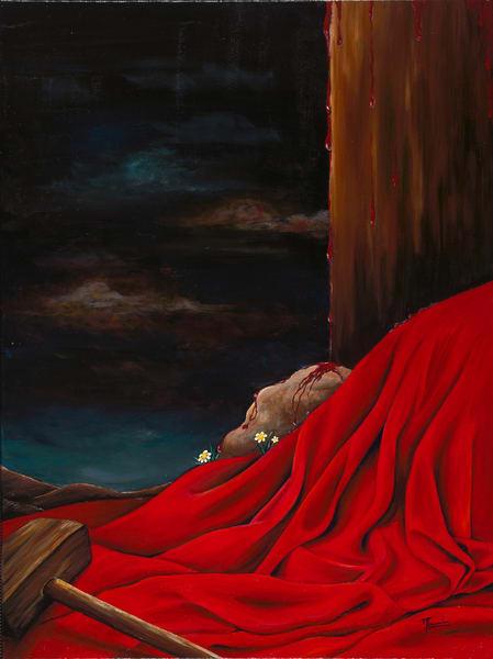 Mounira Francis, religious, painting, robe