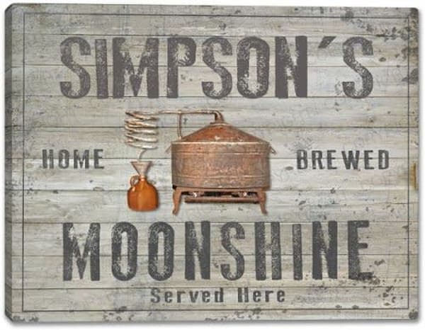 Moonshine Canvas Sign | J Edgar Cool