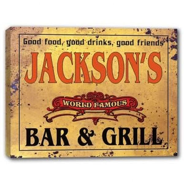 World Famous Bar & Grill Canvas Sign | J Edgar Cool