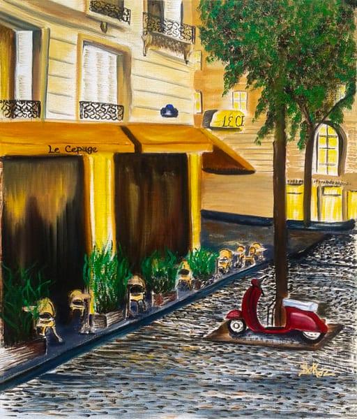 Paris Painting Le Cepage Montmartre