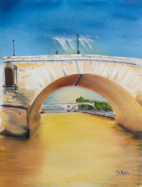 Paris Painting Pont Concierge Bridge