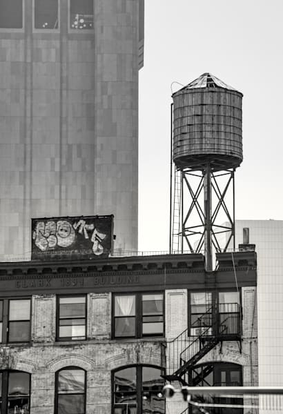 Water Tower on Clark - BW - Prints