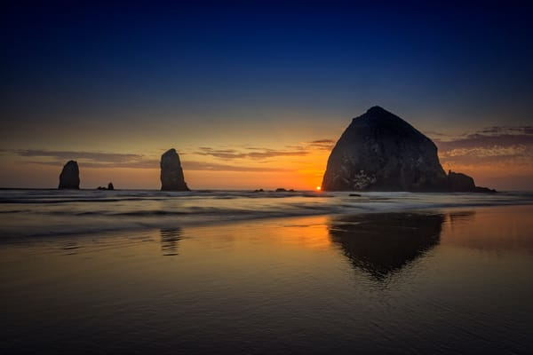 Last Light at Cannon Beach