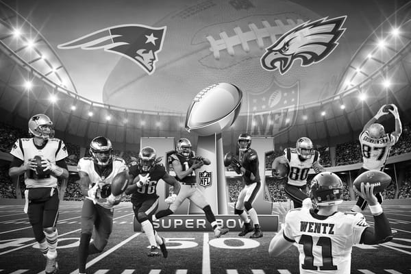 Super Bowl Patriots vs Eagles | Art By Smiths - Sports Photography