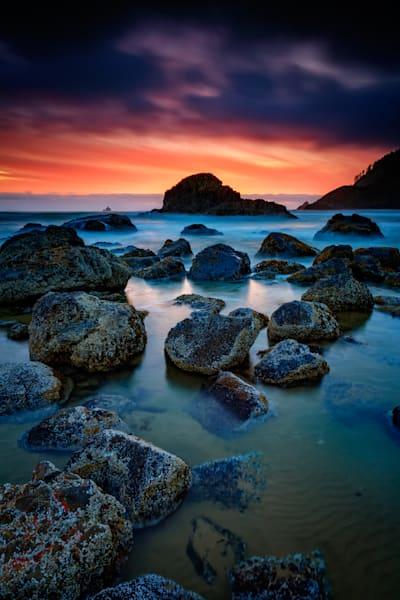 Oregon Sunset Fine Art Print by Rick Berk