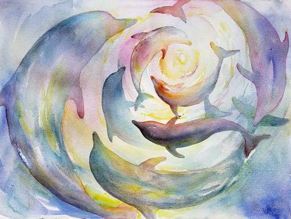 Gift Of Gabriel Iv (Dance Of The Dolphins)  Art | Bright Spirit Studio