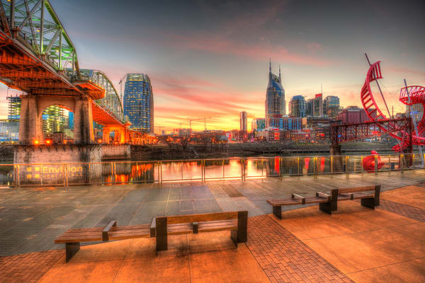 Nashville Skyline Art - Nashville skyline prints by Nashville Noted Photography