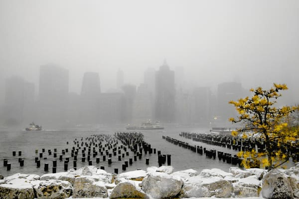 Wintry Lower Manhattan | Special Scenery Landscape - Art By Smiths