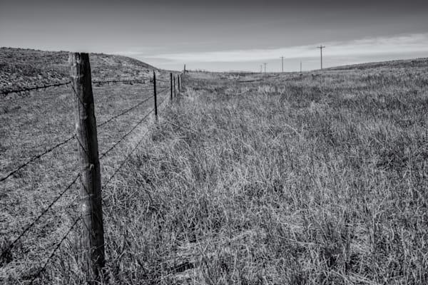Fence Line, Highway 85   Eastern Wyoming Photography Art | Namaste Photography