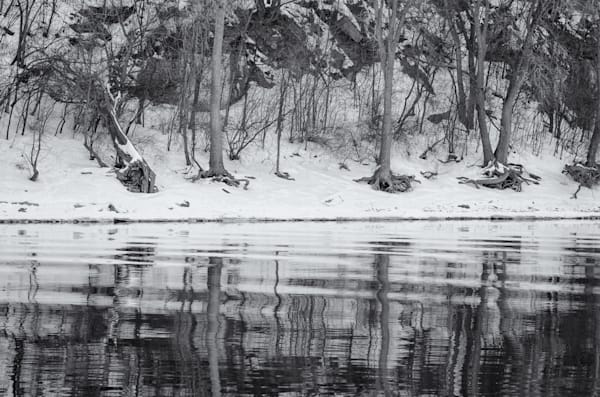 Winter Reflections   Mississippi River, Mn Photography Art | Namaste Photography