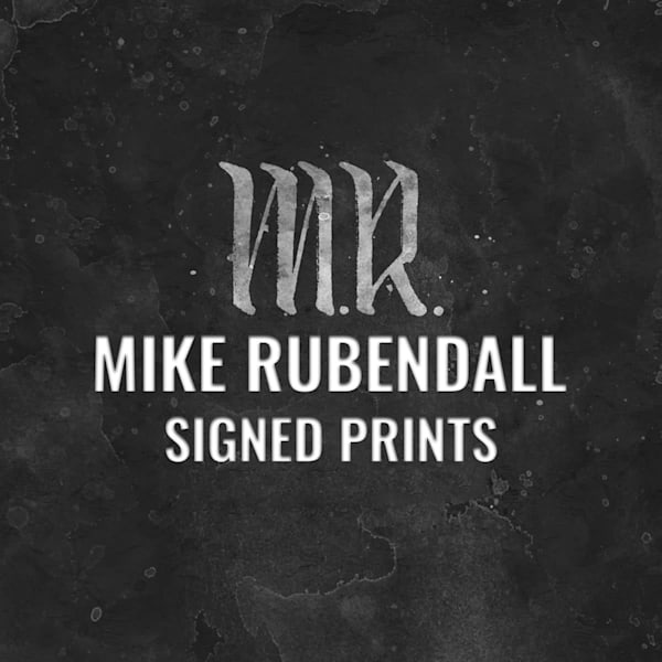 Mike Rubendall Signed Prints