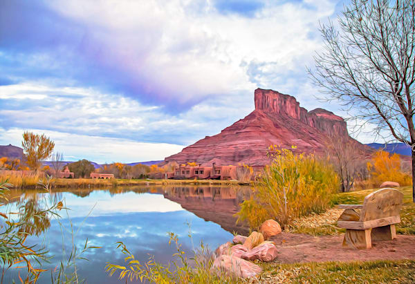Peace Under The Palisade in Gateway, Colorado-shop art/Masonandmasonimages.com