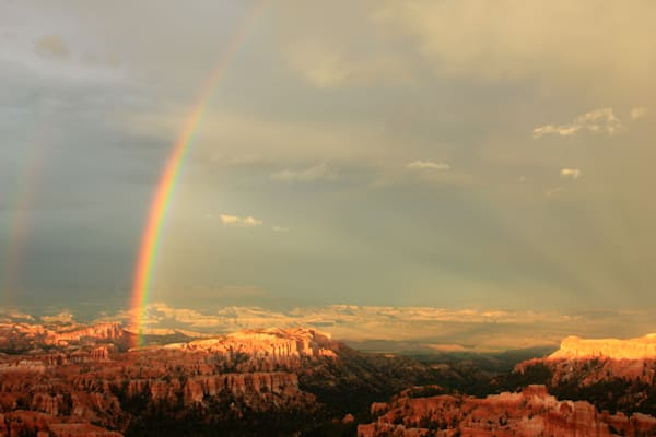 rainbow over bryce