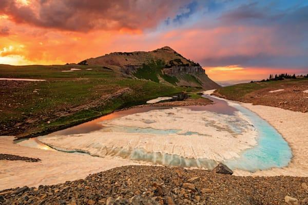 emerald lake sunset
