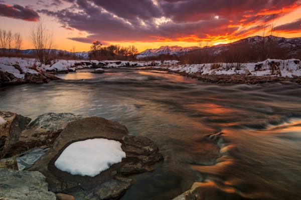 Amazing Dusk Sky at the Provo River