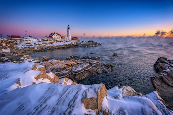 Winter Morning at Portland Head Lighthouse, by Rick Berk