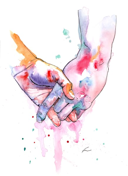 Holding Hands Study 5