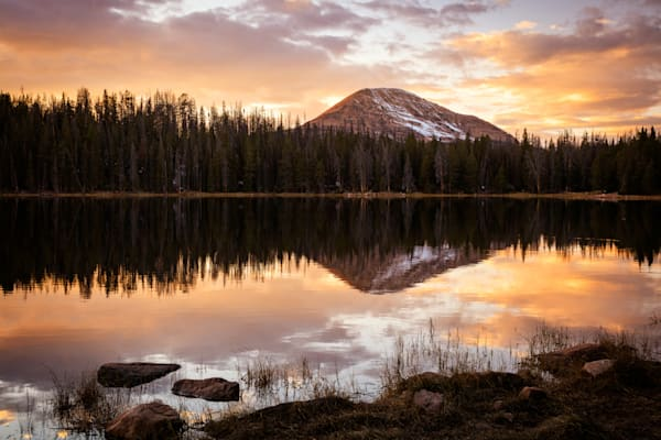Tea Pot Lake Sunset Uinta s
