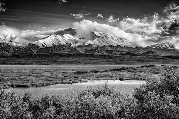 Denali, The High One Black & White by Rick Berk