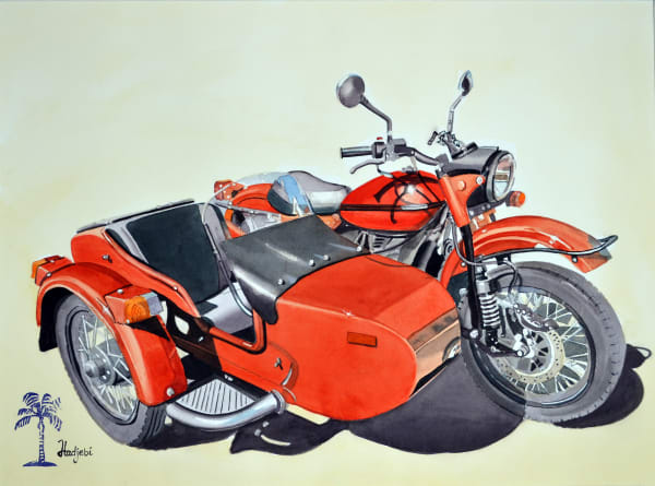 Red Sidecar motorcycle