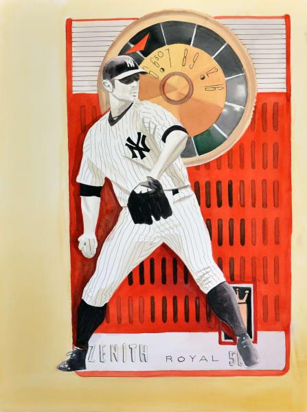World series woes : New York Yankee pitcher