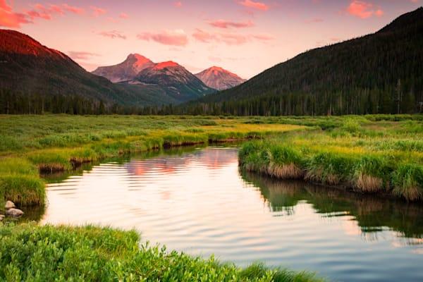 pink bear river sunset