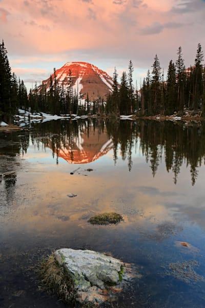 sunrise at picturesque lake