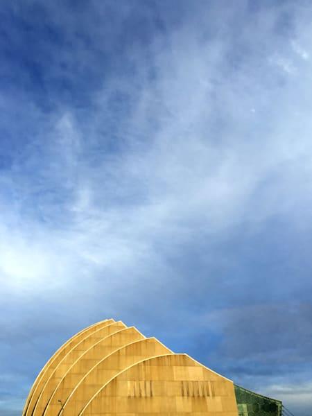 Kauffman Center Profile with prairie sky