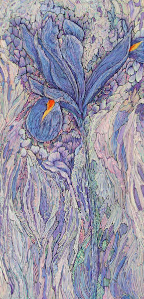A Song About Iris I | Col Mitchell Contemporary Paper Artist