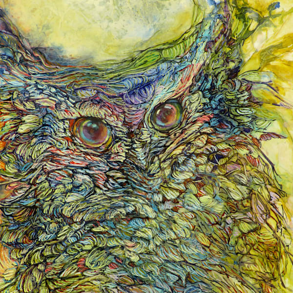 Love Bird I, Owl| Col Mitchell Contemporary Paper Artist