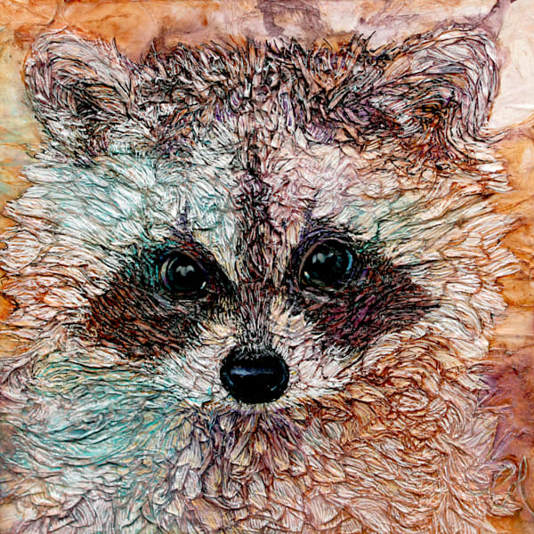 Kit, Raccoon | Col Mitchell Contemporary Paper Artist