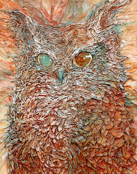 The Odd-Eyed Owl | Col Mitchell Contemporary Paper Artist