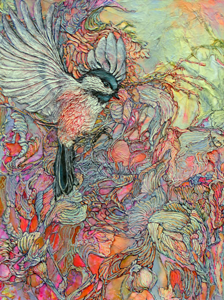 Remembering Delight, Chickadee | Col Mitchell Contemporary Paper Artist