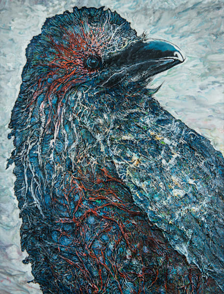 The Raven's Mirror | Col Mitchell Contemporary Paper Artist