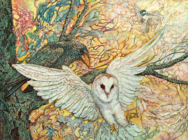 The Playground, Owl | Col Mitchell Contemporary Paper Artist