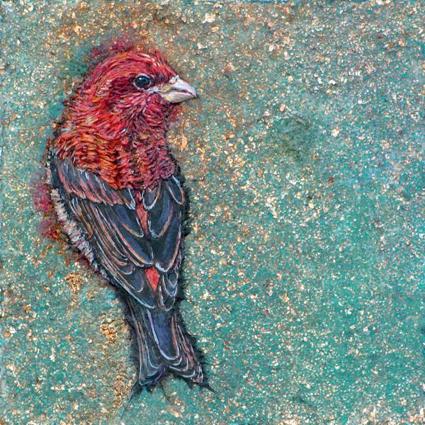 Tree Ornament, Purple Finch | Col Mitchell Contemporary Paper Artist