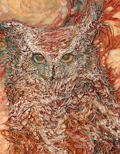 Wind Rider, Owl | Col Mitchell Contemporary Paper Artist