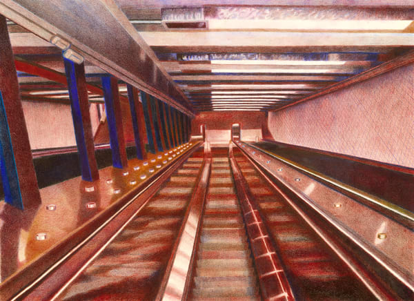 181 St Escalators To Washington Heights Manhattan