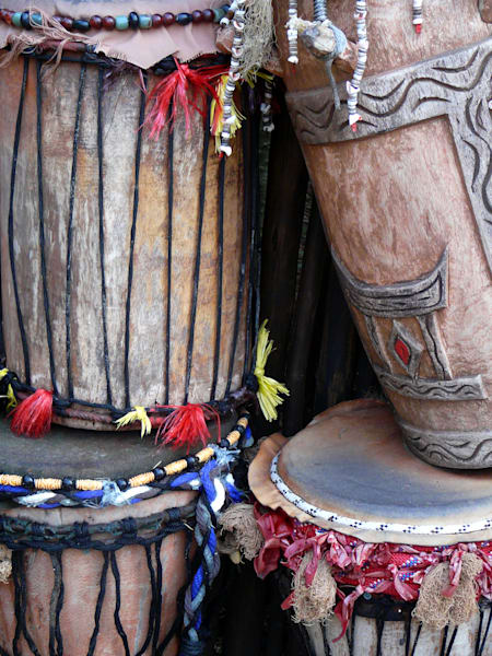 African drums in Walt Disney's Animal Kingdom park.
