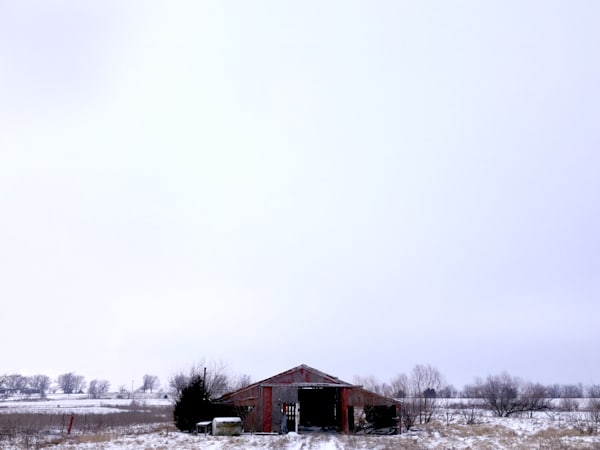 Kansas Winter Barn