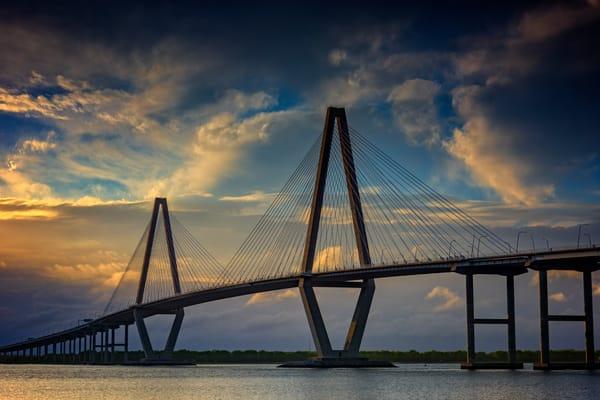 Ravenel Bridge Sunset by Rick Berk
