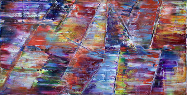 Intersecting original PMS large abstract painting