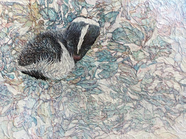 Baby Skunk, Winter Flower| Col Mitchell Contemporary Paper Artist