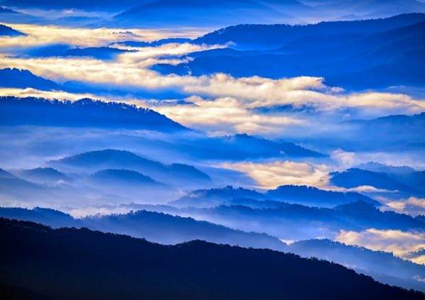 Great Smoky Mountains in the Mist by Rick Berk