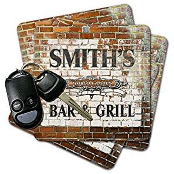 Bar & Grill Brick Wall Coasters | J Edgar Cool