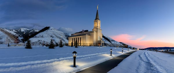 Star Valley LDS Temple Winter Sunrise