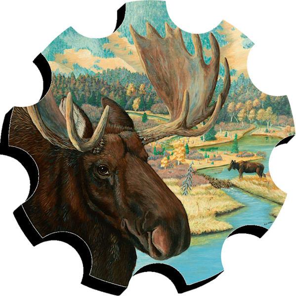 """""""Moose Junction"""" foam board cut-out by Sue Zabel."""